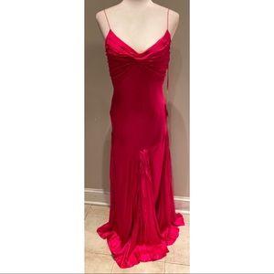 Jovani Silk Gown Hot Pink
